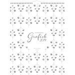 Mayland Familiekalender, grafisk, 5 kolonner