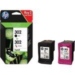 HP No302 blækpatroner sort + farve 2-pak