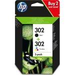 HP nr. 302 blækpatron sort+farve, 2-pak, blister