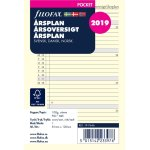 Filofax Refill Pocket Årsplan, 2019