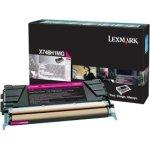 Lexmark X748 lasertoner (prebate), magenta, 10000s