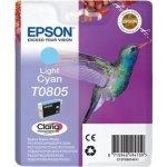 Epson Claria T0805 blækpatron, lys cyan, m/alarm