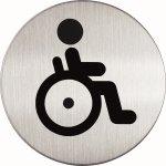 Durable Skilt Rundt Handicap toilet