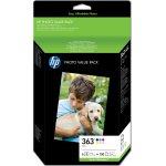 HP No363 blækpatroner + fotopapir, sampak, blister