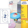 Avery L6043-100 CD-etiketter, 117mm, inkjet/laser