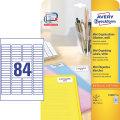 Avery L7656-25 etiketter til dias, 46 x 11,11mm