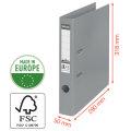 Esselte No.1 brevordner A4, 50mm, hvid