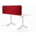 Softline bordskærmvæg rød B800xH450 mm