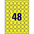 Avery L6128-20 runde stærke etiketter, 30 mm, gul