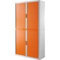 Paperflow Easy Office 2 m, 4 hylder, Hvid/orange