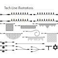 Tech-Line Lyskæde Supplementsæt, 200 LED