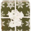 Gavepapir Big flake Grøn Matt Bestrøget, 57cmx154m