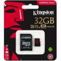 KINGSTON Canvas React 32GB microSDHC hukom.kort