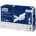 Tork H2 Xpress Advanced Håndklædeark, 4-fold,21 pk