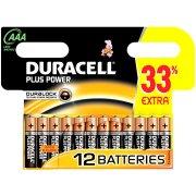 Duracell Plus Power AAA-batterier, 12 stk.
