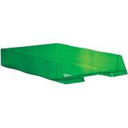 Styrofile brevbakke A4 transparent, grøn