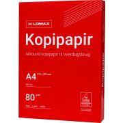 Lomax kopi- og printerpapir A4/80g/500ark