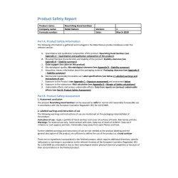 Product Safety Report