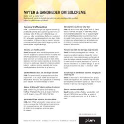 Myter og sandheder om solcreme