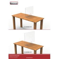 Skrivebords hygiejneskærm 60,5 x 80,5 cm
