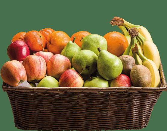 Økologisk frugtkurv