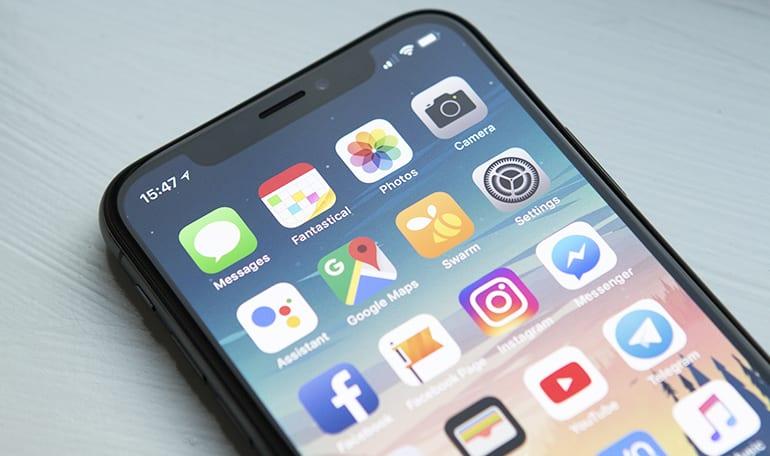 Smartphone med apps