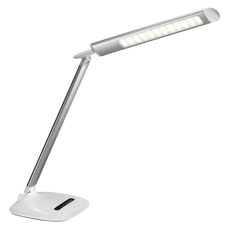 Bordlampe med flade arme