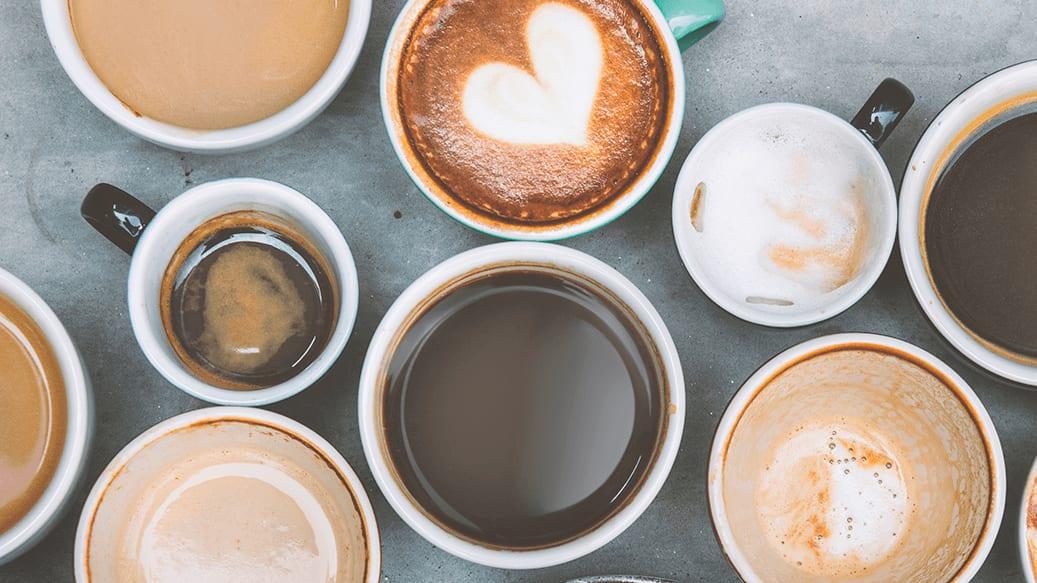 Forskellige kaffevarianter