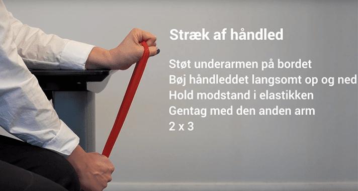 Kontorfitness stræk af håndled