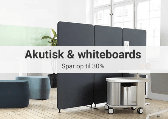 Akustik og whiteboards