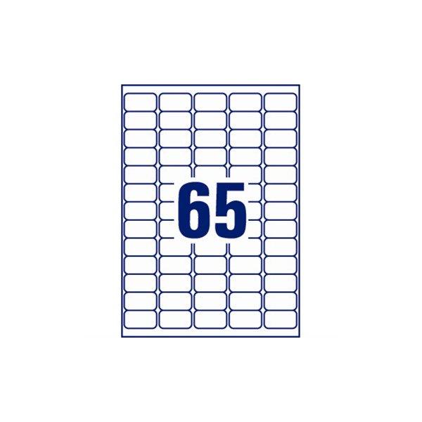 Avery J8651-25 mini etiketter, 38,1 x 21,2mm, hvid