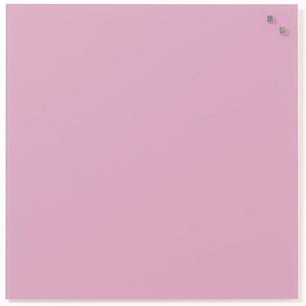 Glassboard magnetisk glastavle 45 x 45 cm, lyserød