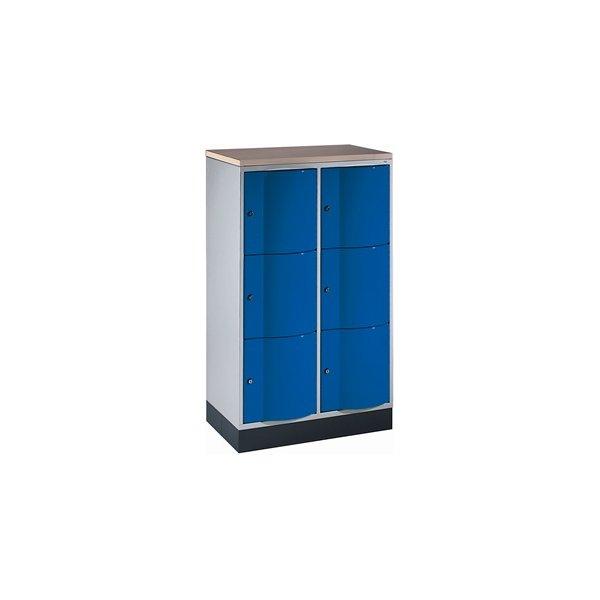 CP Garderobeboks Resisto, 2x3 rum,H.125,5, Grå/Blå