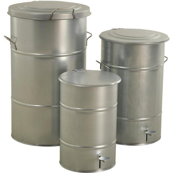 RETRO affaldsbeholder 70 l, fodpedal, galvanisere
