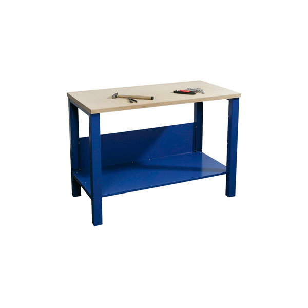 Basic arbejdsbord - 1 x underhylde, Blå