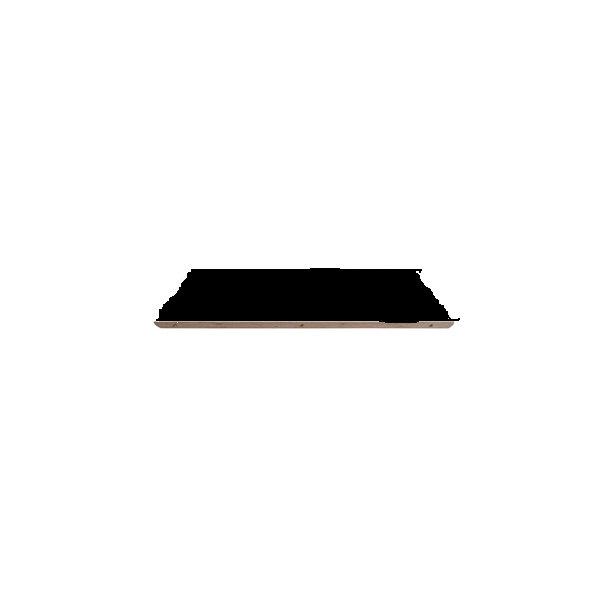 Ekstra plade sort m/alu til kantinebord/udtræk