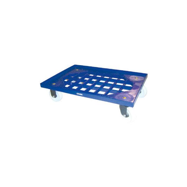 Flexi lagervogn 61x41 cm med midtergitter, blå