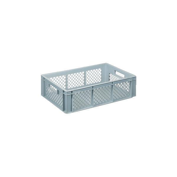 Lagerkasse perforeret 34 liter,(LxBxH) 60x40x17 cm