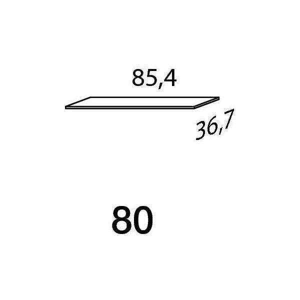 Mistral sektion 080 hylde Light bøg