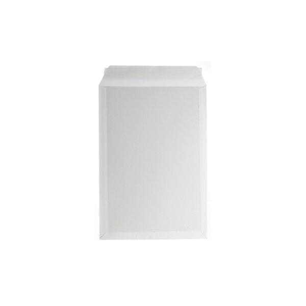 Bong kuvert med papbagside 350 x 500mm, hvid