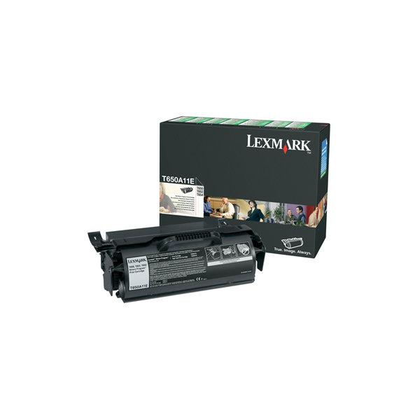 Lexmark 0T650A11E lasertoner, sort, 7000s