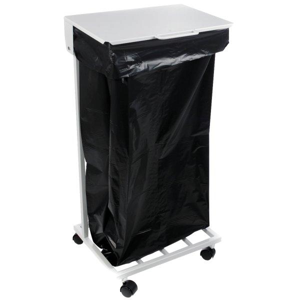 Lomax affaldsstativ med låg, hvid
