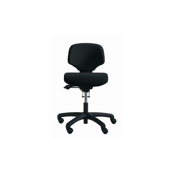 RH Activ 202 kontorstol lav ryg, bredt sæde sort