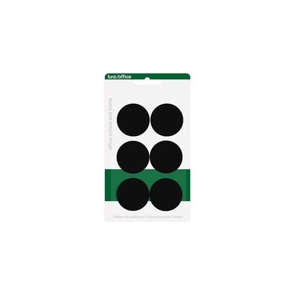 Magneter til whiteboard 30mm. 6 stk, sort