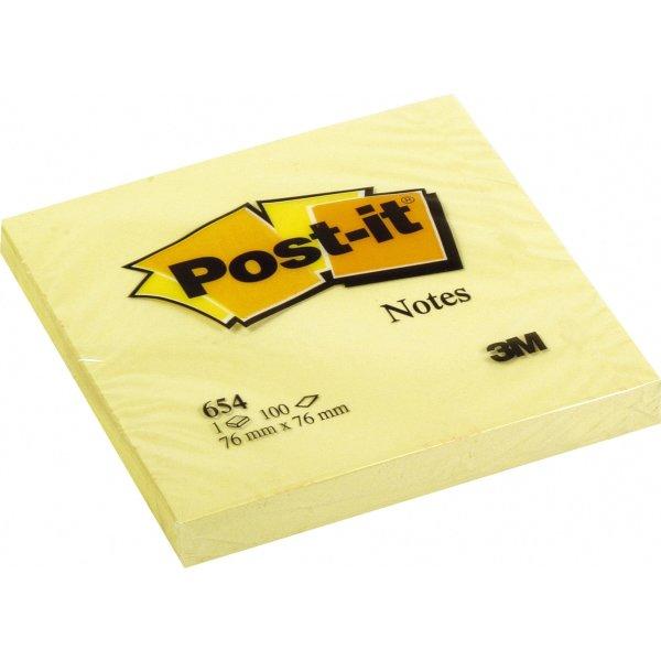 Smuk Post-it memoblokke 76 x 76 mm, gul - Lomax A/S XU-12