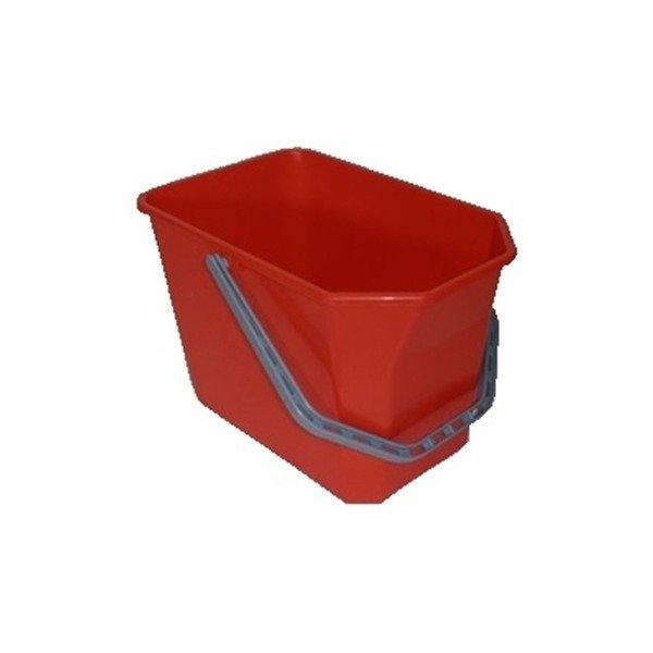 Moppespand 15 liter, rød