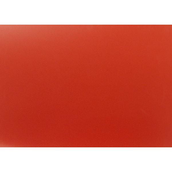 RBM Noor kantinestol rød/metal silver