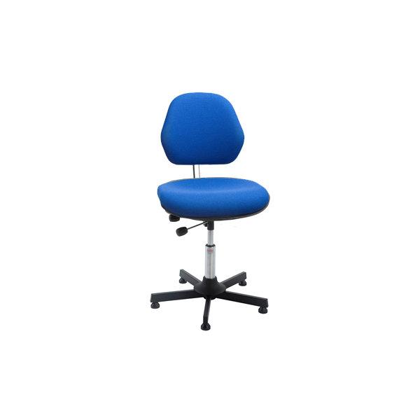 Aktiv arbejdsstol m/ glat søjle, blå, stof