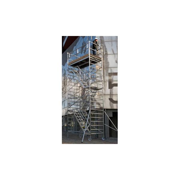 Rullestillads 135x245 inkl trapper - Højde 10,09 m
