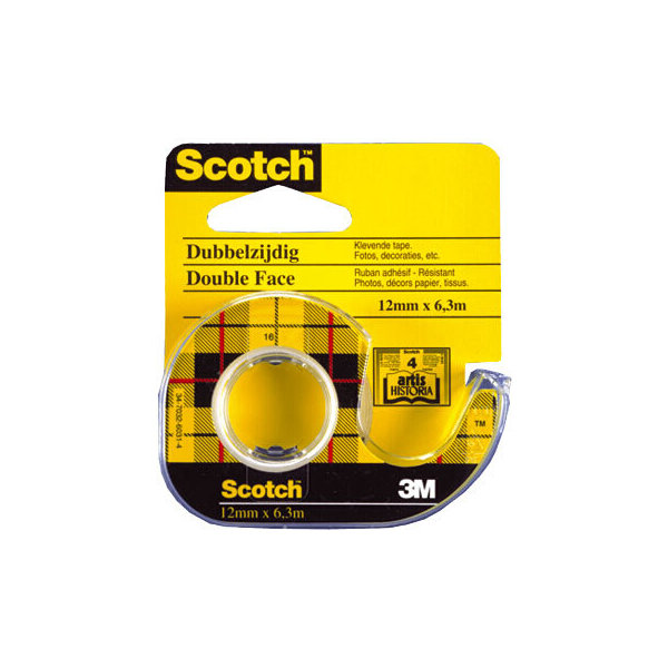 Scotch tape, dobbeltklæbende 12mm x 6,3m